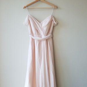 BHLDN Sz 0 Watters Kane Bridesmaid Dress Ice Pink